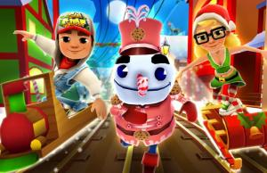 Subway Surfers surf on smartphone games